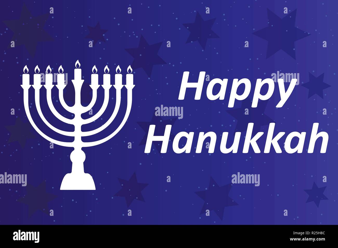Hanukkah Typographic Vector Design - Happy Hanukkah. A Stock Vector