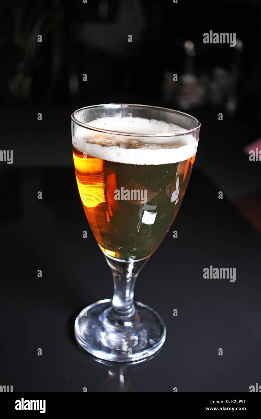 Beer. Glass of beer stock photo - Stock Image