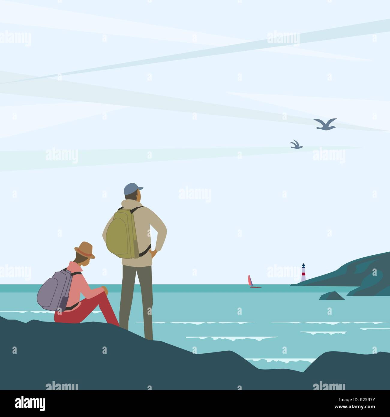 Time for adventures - Stock Vector