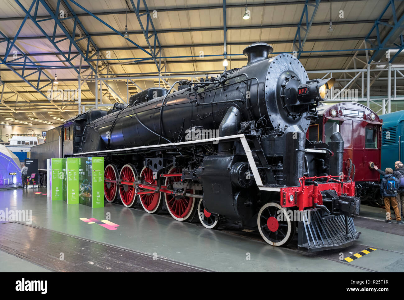 1935 KF7 Steam Locomotive in the Great Hall, National Railway Museum, York, England. The KF7 is one of the largest steam locomotives built in Britain. - Stock Image