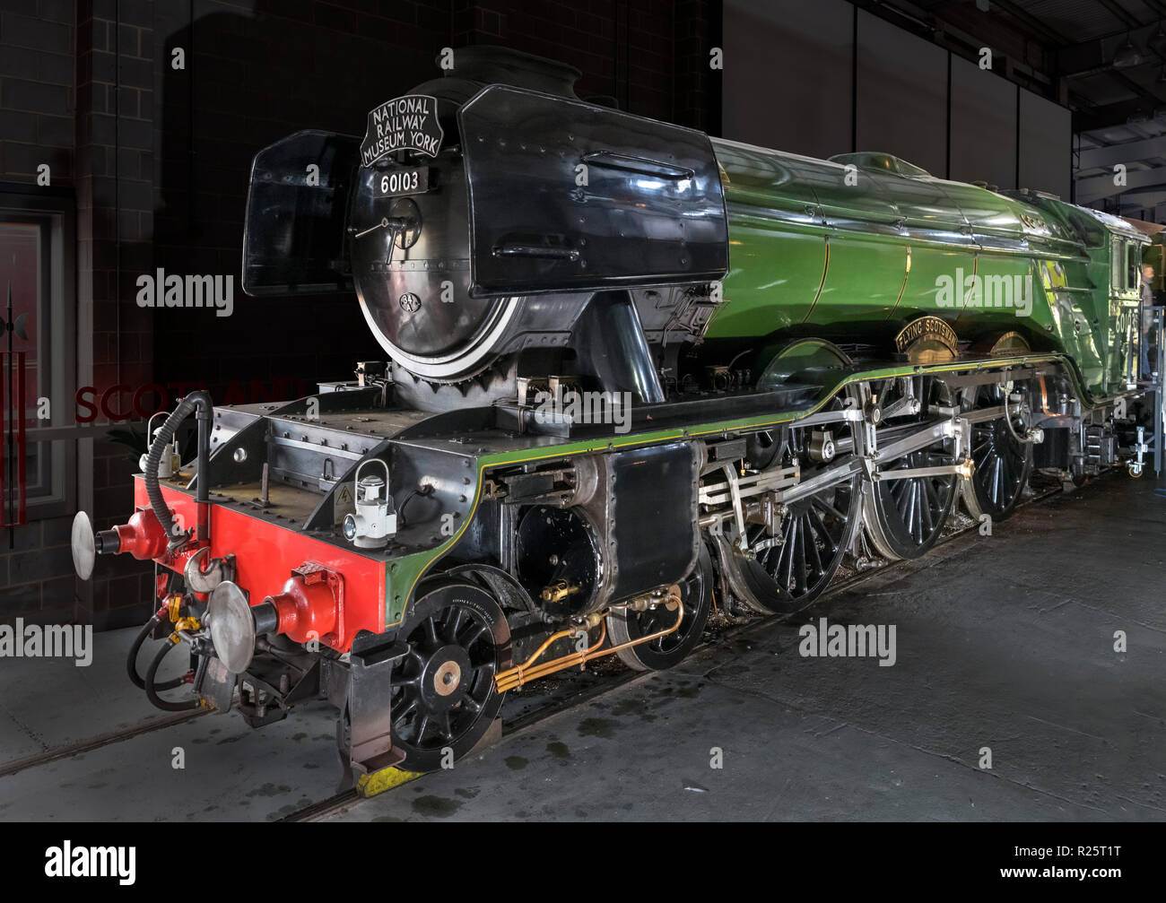 The Flying Scotsman steam train, National Railway Museum, York, England, UK. - Stock Image