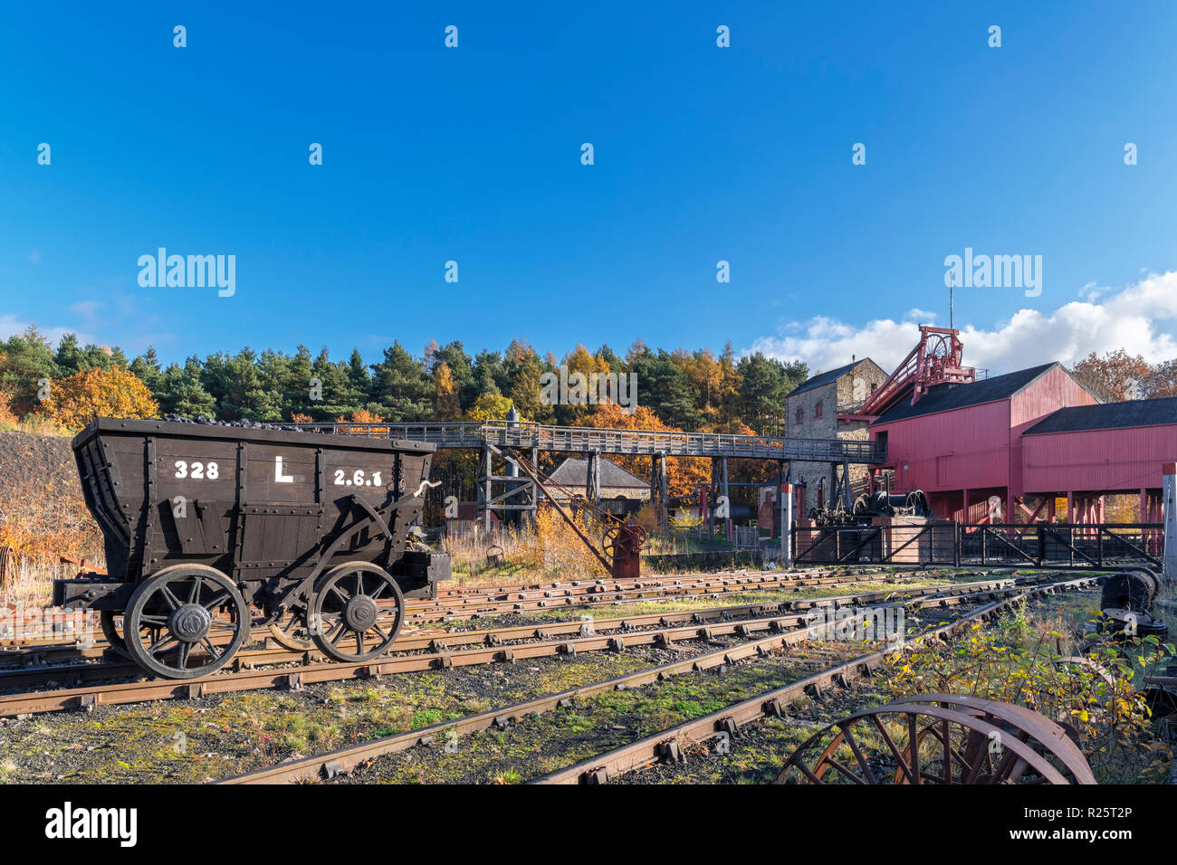 Colliery at Beamish Open Air Museum, Beamish, County Durham, England UK - Stock Image