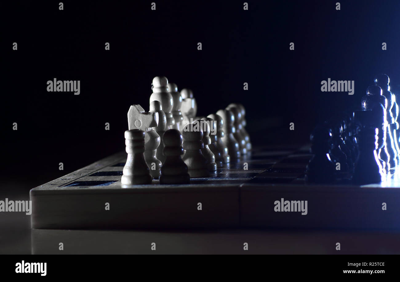 chess game. abstract composition of chess figures - Stock Image