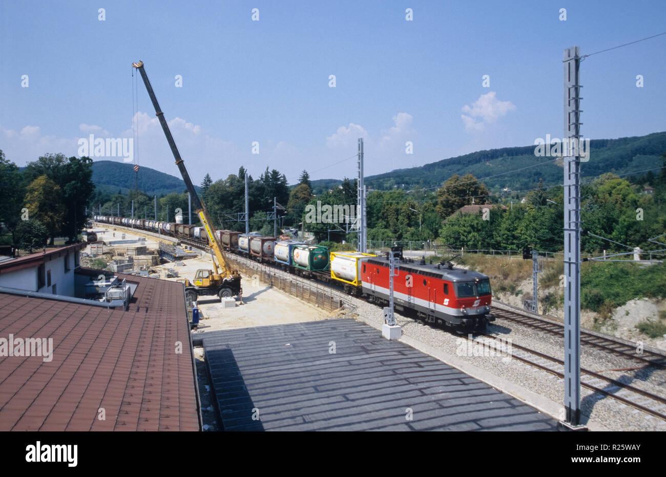 Wien, Westbahnstrecke, Bauarbeiten am Lainzer Tunnel - Stock Image