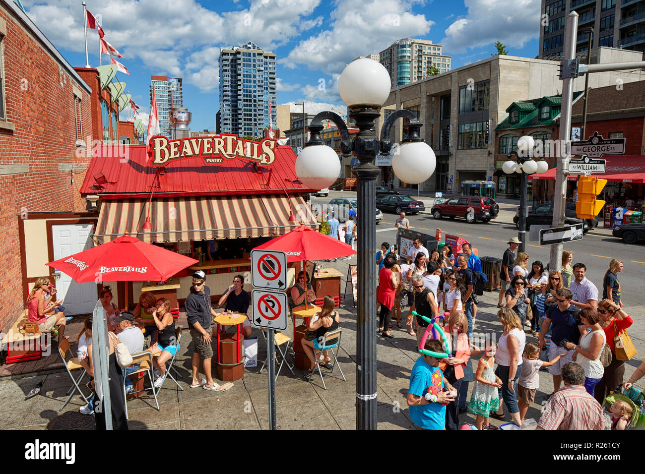BeaverTails Pastry stand Beaver Tails on George Street in Ottawa Canada - Stock Image