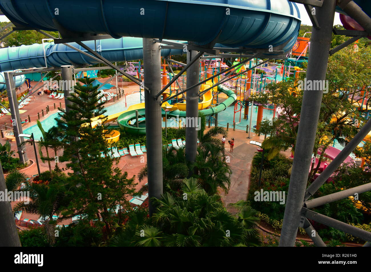 Aquatica water park stock photos aquatica water park stock images alamy for Outdoor swimming pool near slough