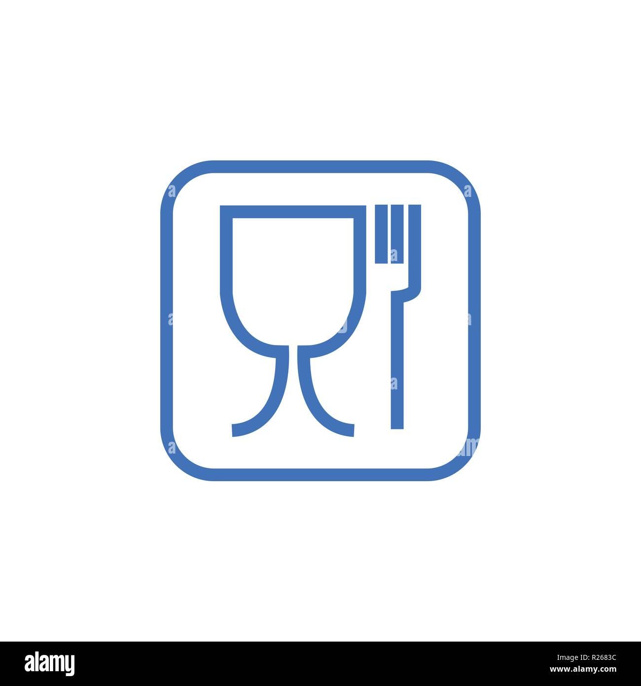 Food safe symbol. Not suitable for food icon. No food grade symbol. Vector - Stock Vector