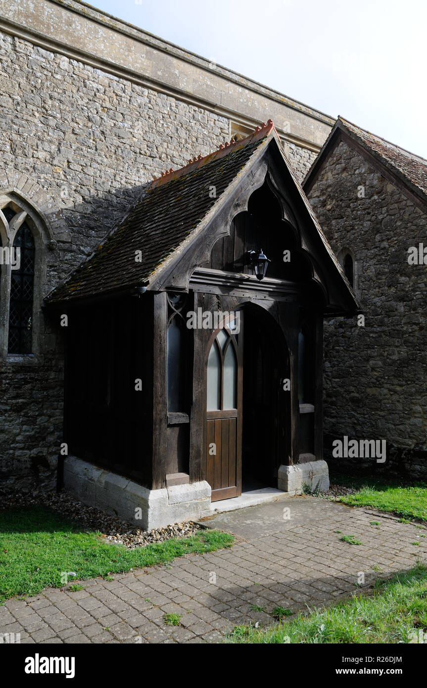 St Mary The Virgin Church, East Claydon, Buckinghamshire, on top of Sion Hill.  The first Rector here was recorded in 1218. - Stock Image
