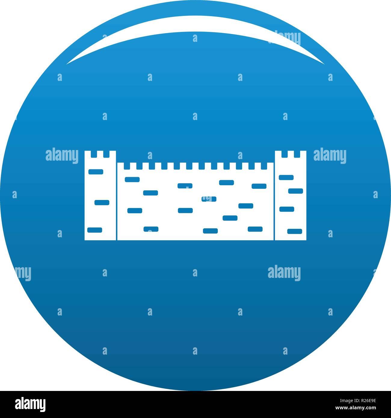 Stone fence icon vector blue circle isolated on white background  - Stock Image