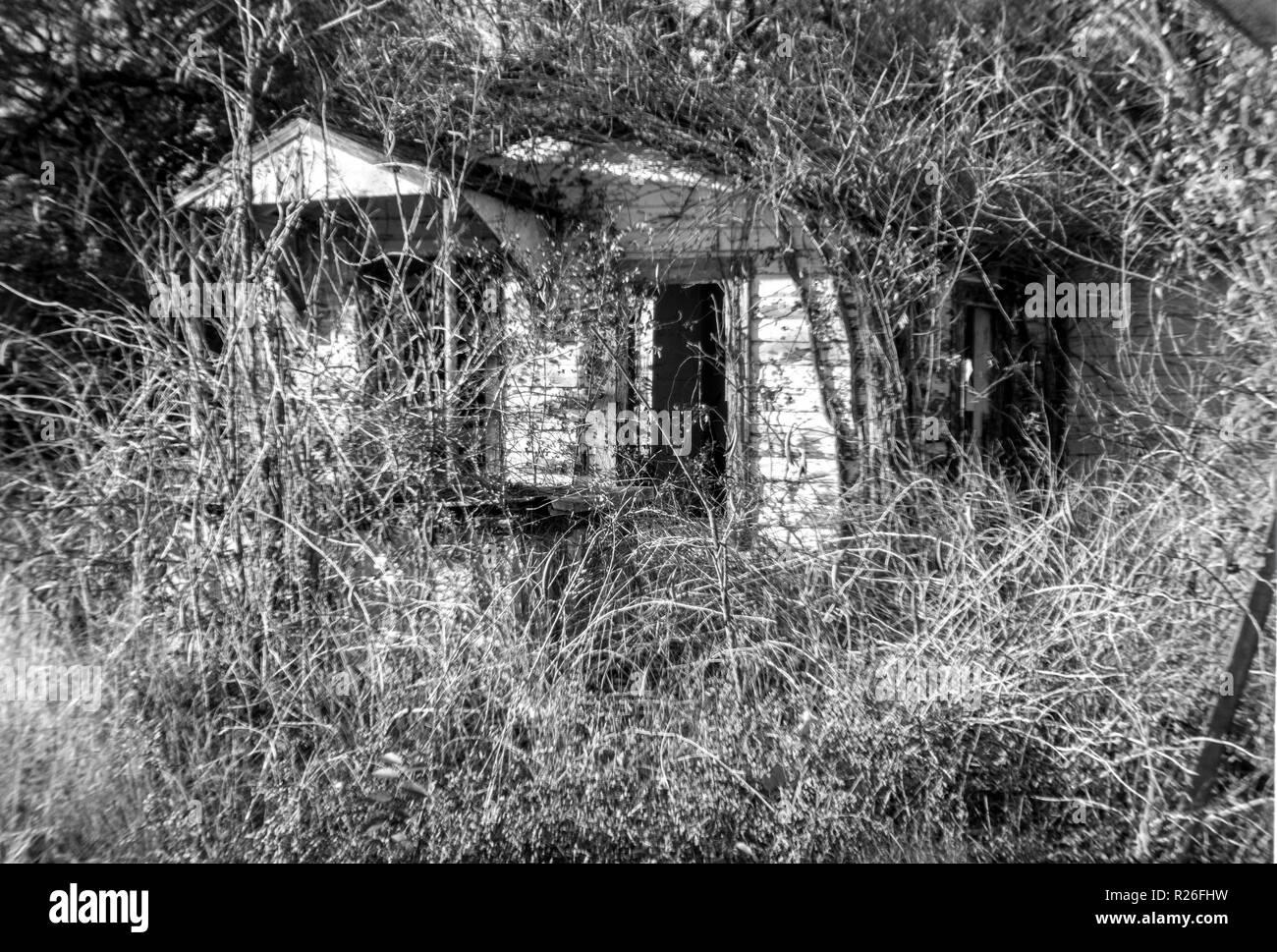 Empty House BW - Stock Image