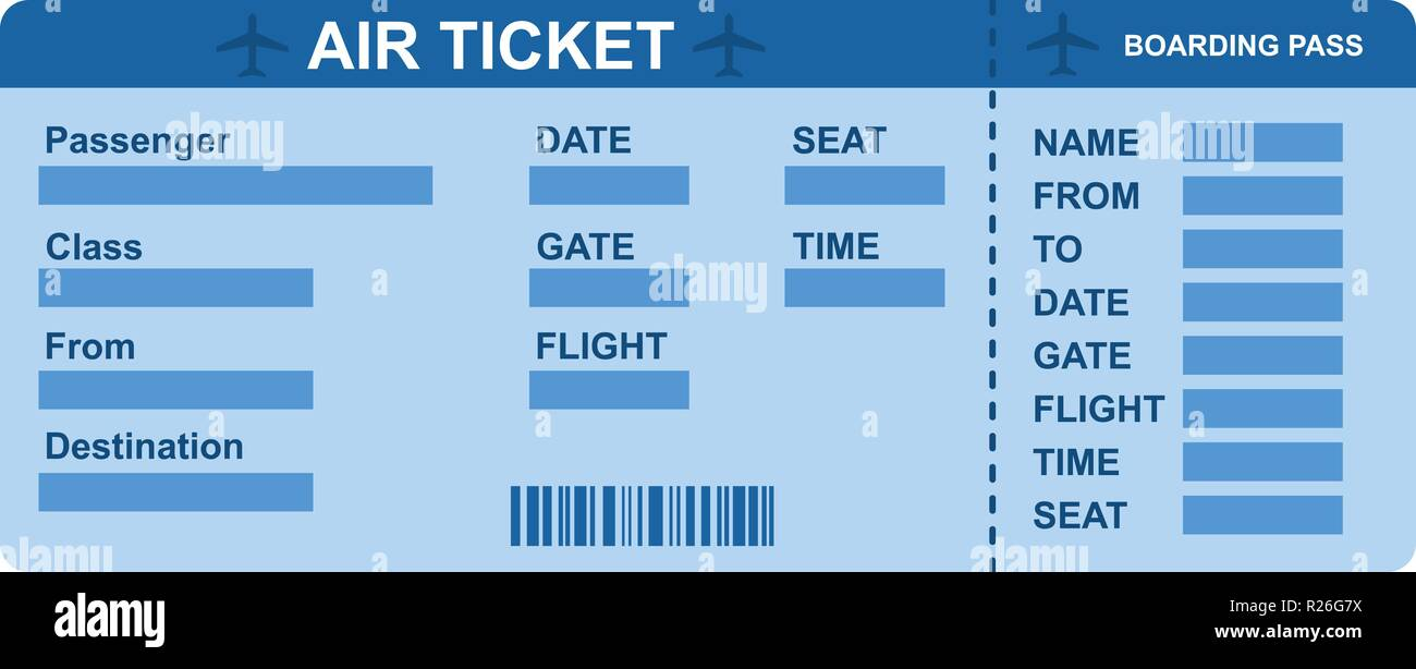 Air ticket icon. Flat illustration of air ticket vector icon for web - Stock Image