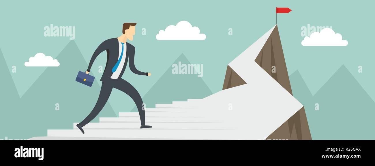Man Career Banner Flat Illustration Of Man Career Vector Banner For Web Stock Vector Image Art Alamy