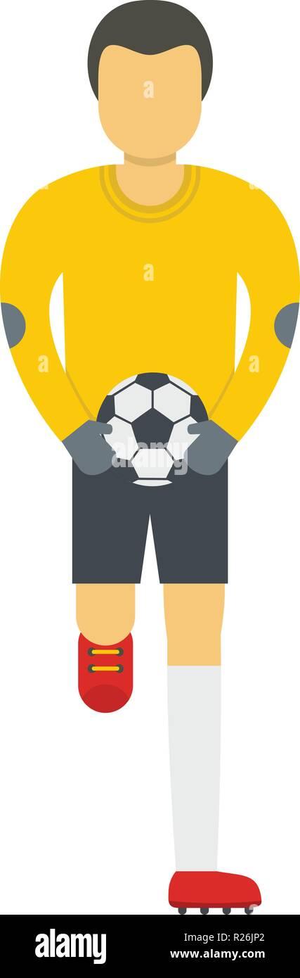 Goalie icon. Flat illustration of goalie vector icon for web - Stock Vector