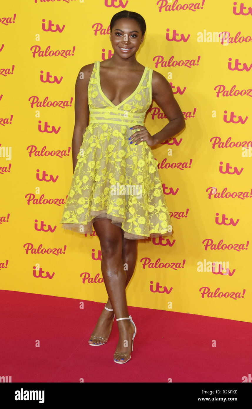 ITV Palooza at the Royal Festival Hall, Belvedere Road, London  Featuring: Samira Mighty Where: London, United Kingdom When: 16 Oct 2018 Credit: WENN.com - Stock Image