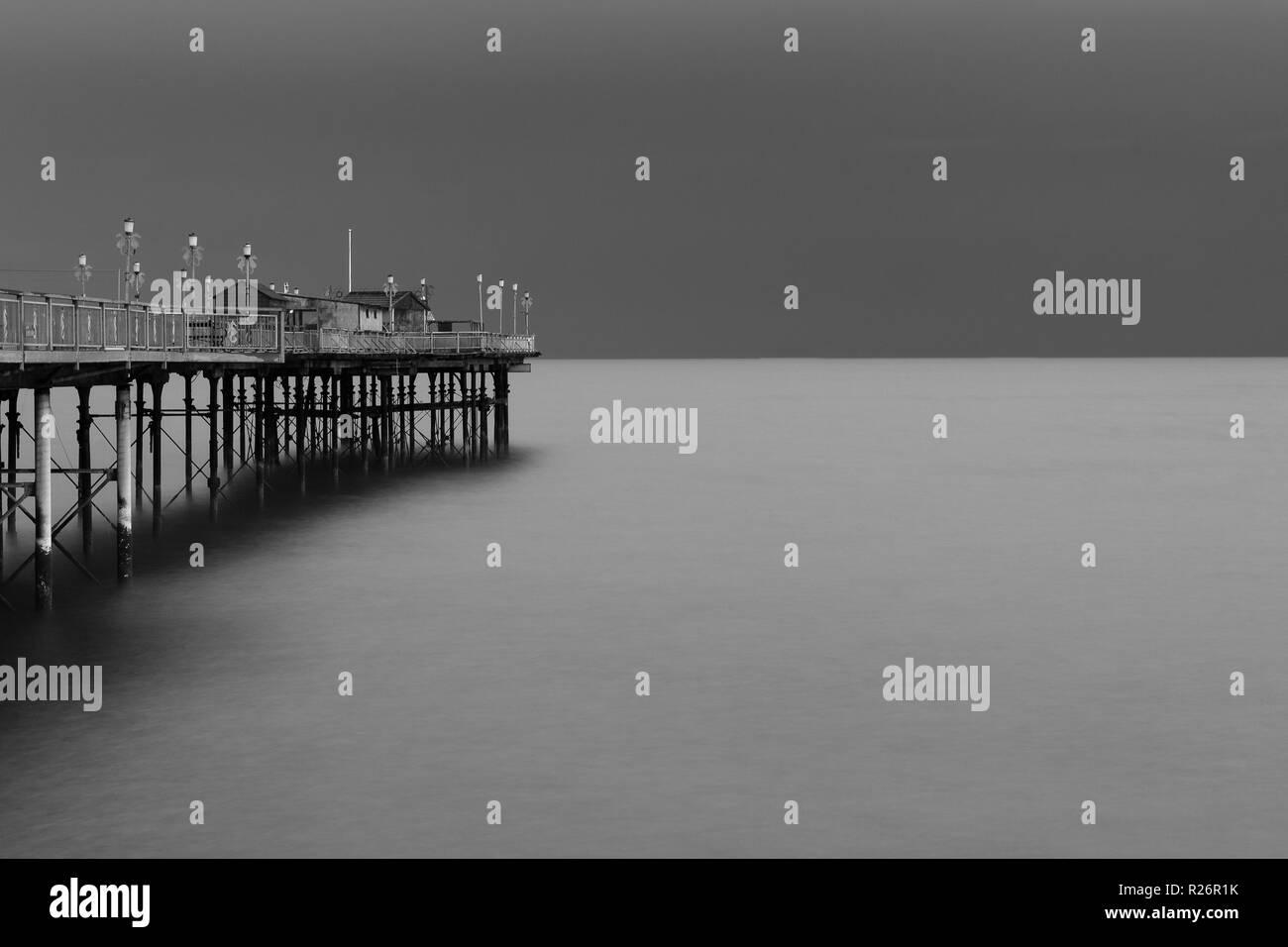 Teignmouth Victorian Grand Pier - Stock Image