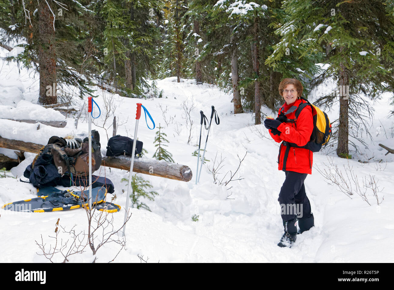 42,755.09690 AZ Meg lunch stop Upper Moose Lake Trail SC - Stock Image