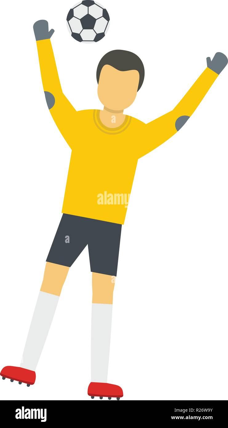 Team goalkeeper icon. Flat illustration of team goalkeeper vector icon for web - Stock Vector