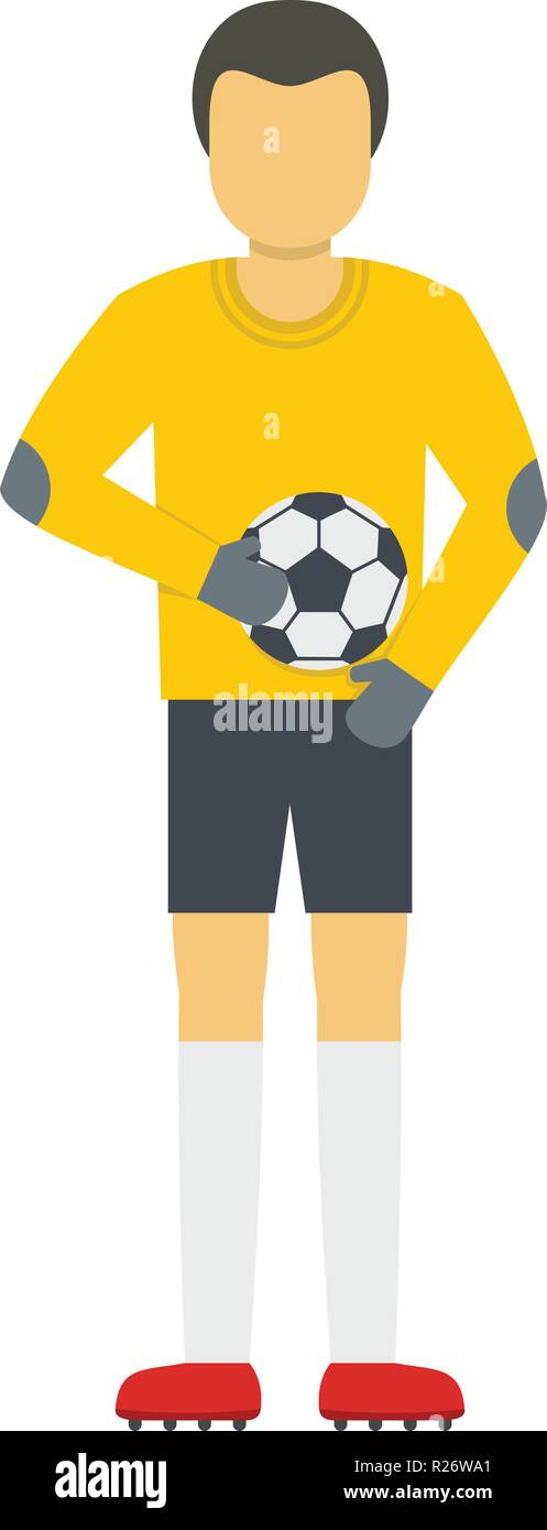 Player with ball icon. Flat illustration of player with ball vector icon for web - Stock Vector
