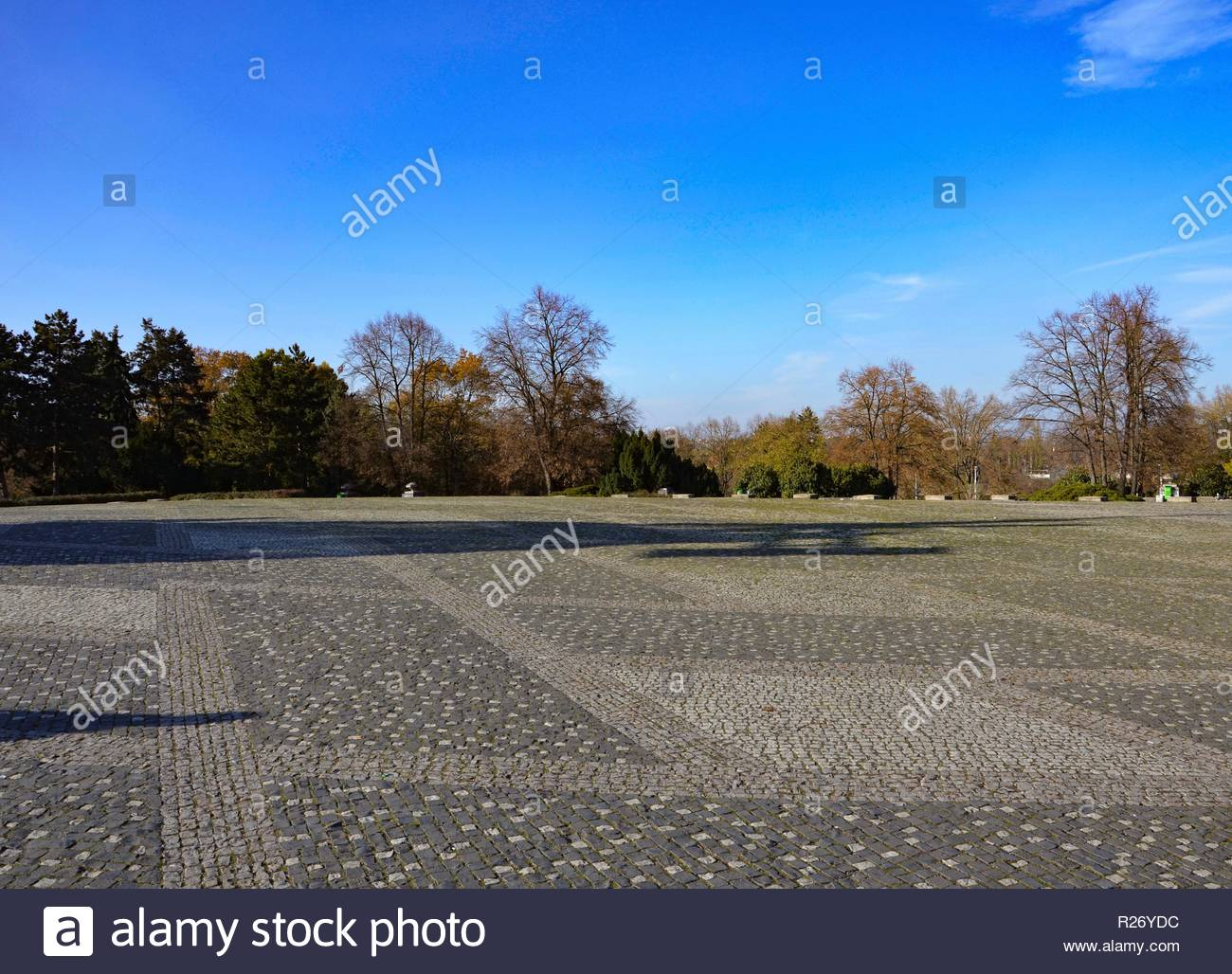 Plateau of Letna Park in Prague in winter Stock Photo