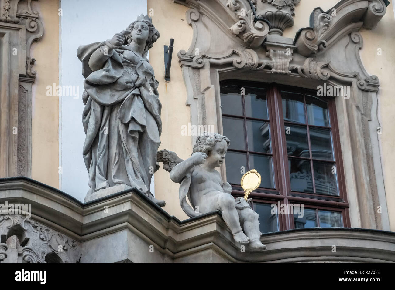 Detail on the old university in Wroclaw, Poland Stock Photo