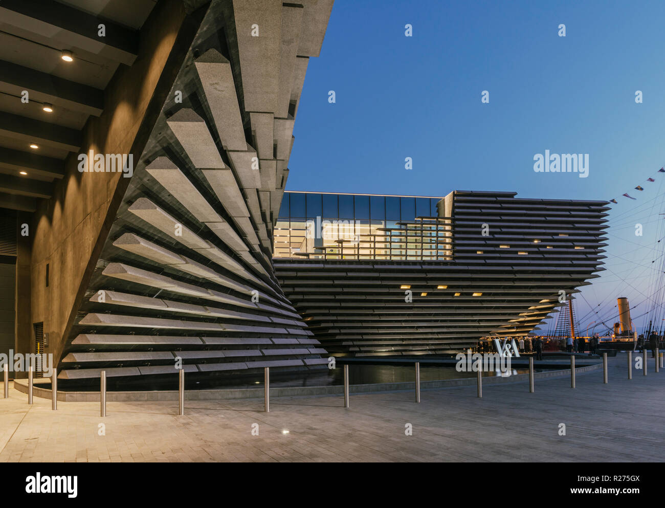 The new V&A design museum on Dundee's regenerated waterfront has already passed the 100,000 visitor mark within 2months of opening, Dundee Scotland UK - Stock Image