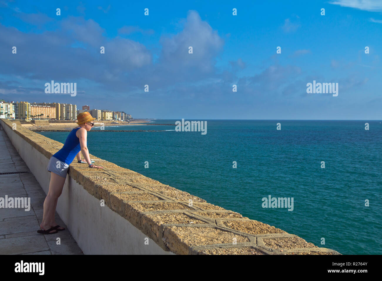 Cádiz is, in most respects, a typically Andalusian city with a wealth of attractive vistas and well-preserved historical landmarks. - Stock Image
