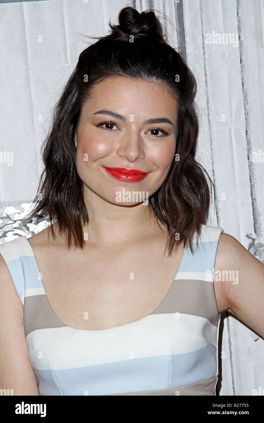 NEW YORK, NY - DECEMBER 07:  Build presents Miranda Cosgrove discussing 'Despicable Me 3' at Build Studio on December 7, 2017 in New York City.  (Photo by Steve Mack/S.D. Mack Pictures) - Stock Image