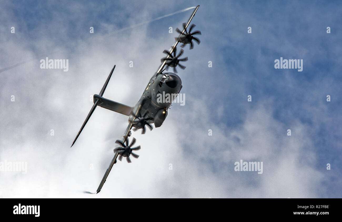 Boeing A400M aircraft flying - Stock Image