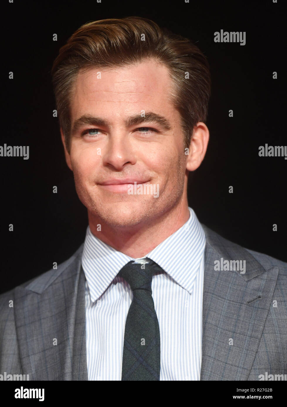 62nd London Film Festival - The Outllaw King - Premiere  Featuring: Chris Pine Where: London, United Kingdom When: 17 Oct 2018 Credit: WENN.com Stock Photo