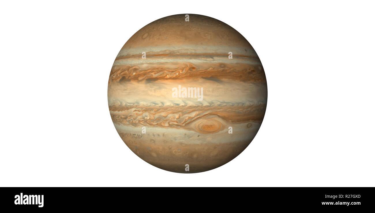 Jupiter planet Solar System - Stock Image