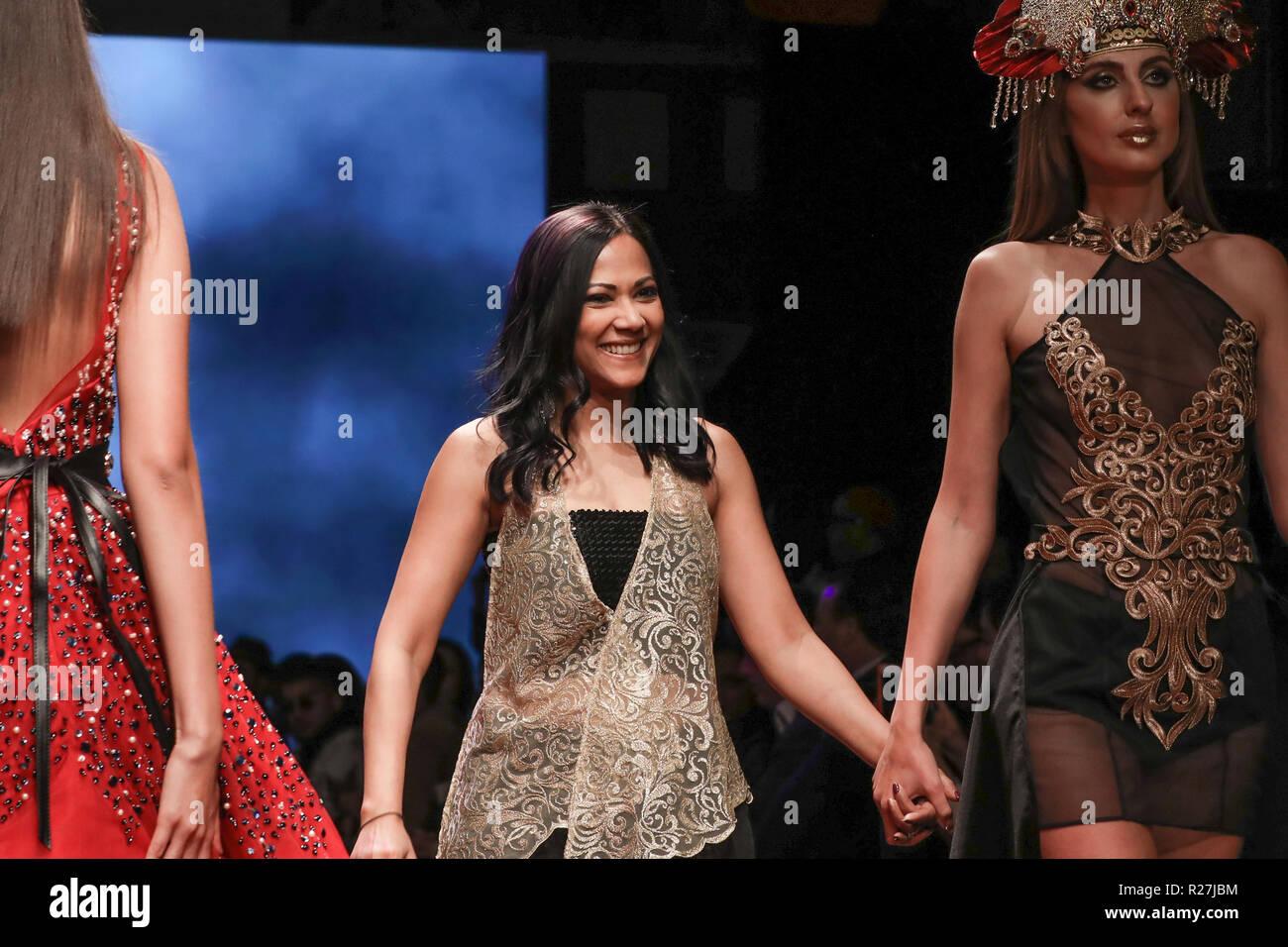 Los Angeles Fashion Week Art Hearts Fashion Kahini Couture Catwalk Featuring Joy Sircar Mcmillen Fashion Designer
