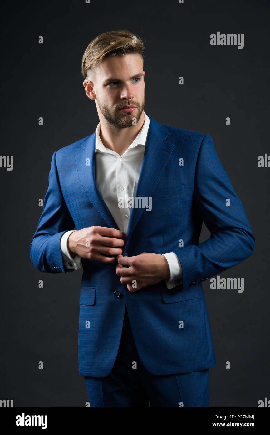 0577e0464 Man formal jacket. Perfect to last detail. Handsome businessman. Confidence  success, Male