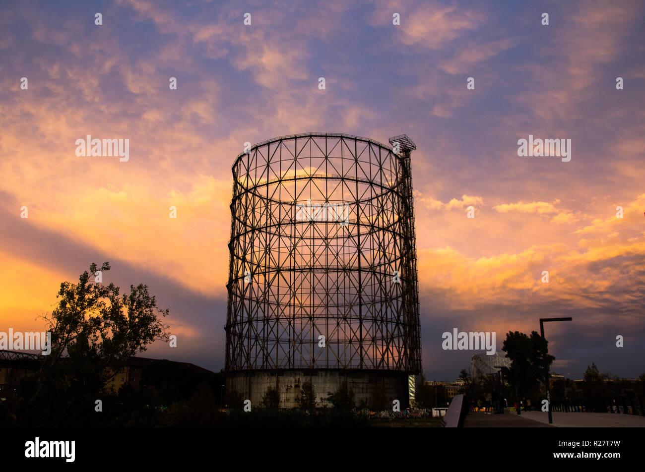 Gazometro View - An urban sunset - Stock Image