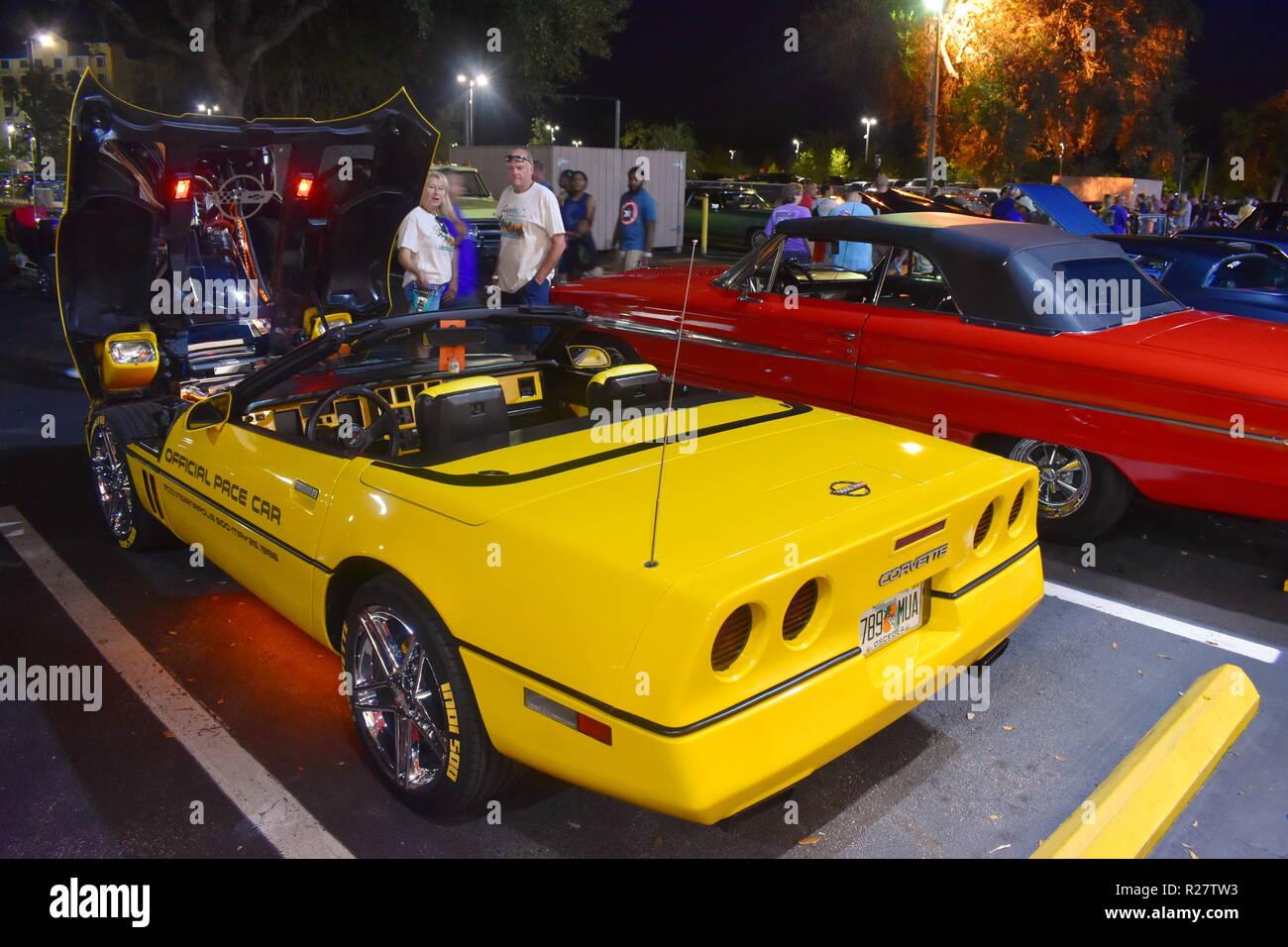 Orlando, Florida  November 02, 2018  Vintange Cars
