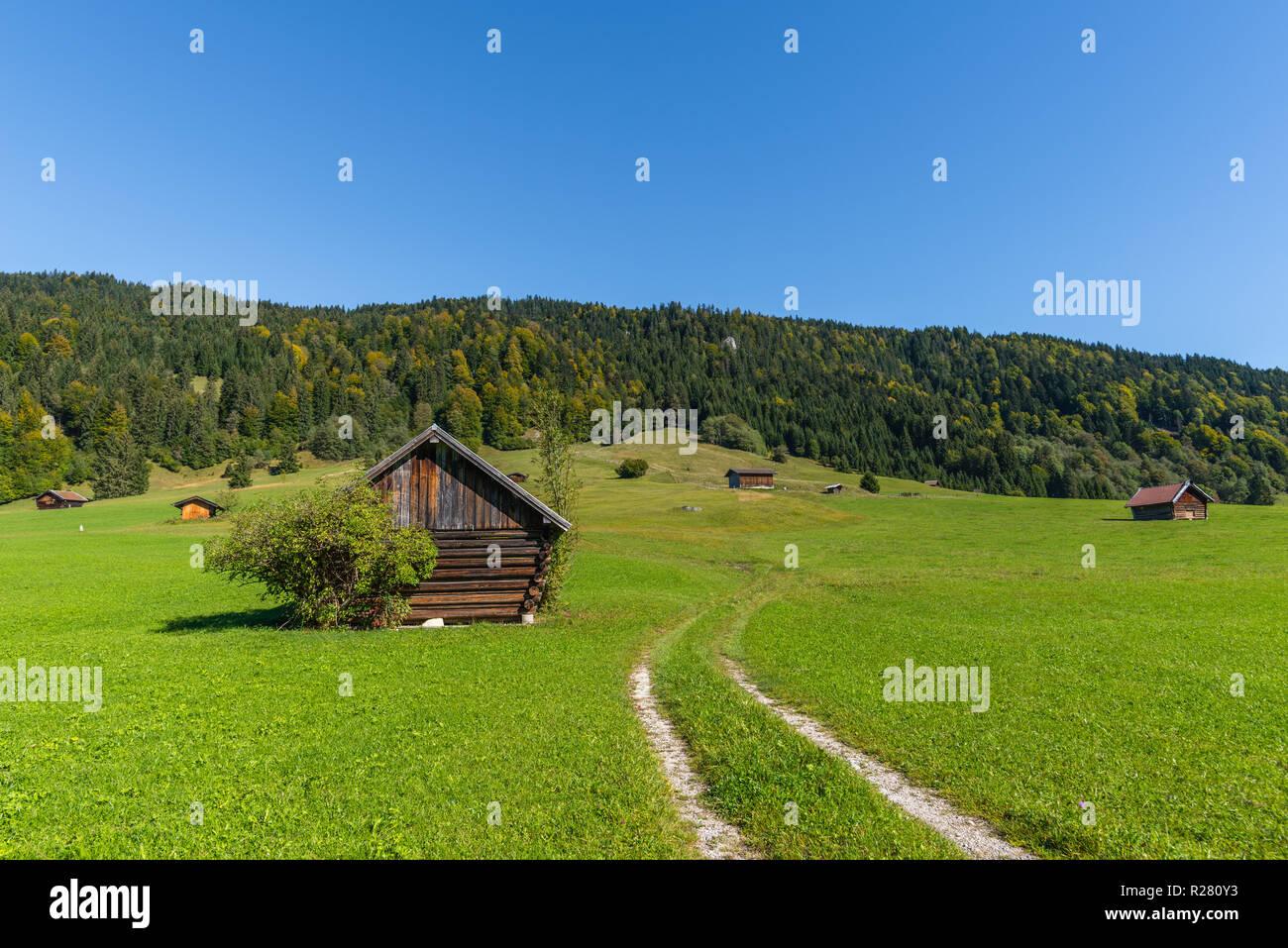 Gerold, Krün, Upper Bavaria, Bavaria, South Germany, Europe - Stock Image