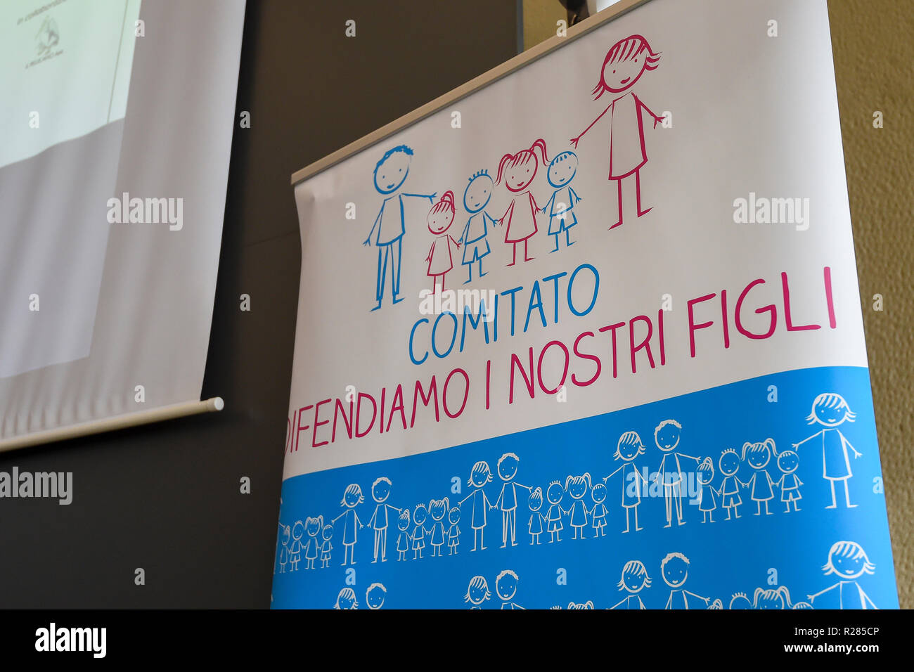 Foto Claudio Grassi/LaPresse 17 novembre 2018 Milano, Italia  Cronaca Family Day 2018 Stock Photo