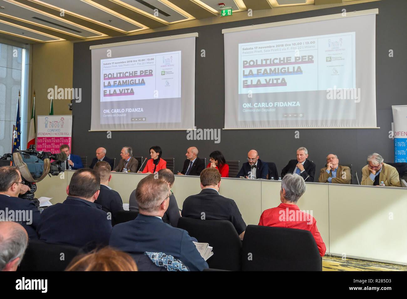 Foto Claudio Grassi/LaPresse 17 novembre 2018 Milano, Italia  Cronaca Family Day 2018 Stock Photo