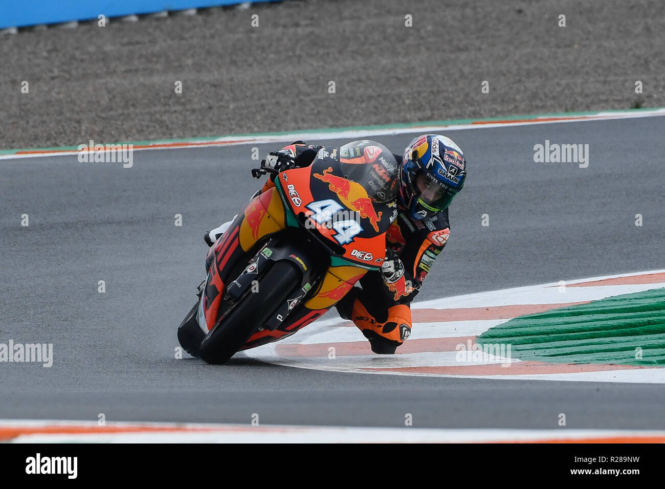 Circuit de Valencia, Valencia, Spain. 17th November 2018.  MotoGP of Valencia, qualification; Moto 2 rider Miguel Olivera (KTM RedBull) during qualifying sessions Credit: Action Plus Sports/Alamy Live News - Stock Image