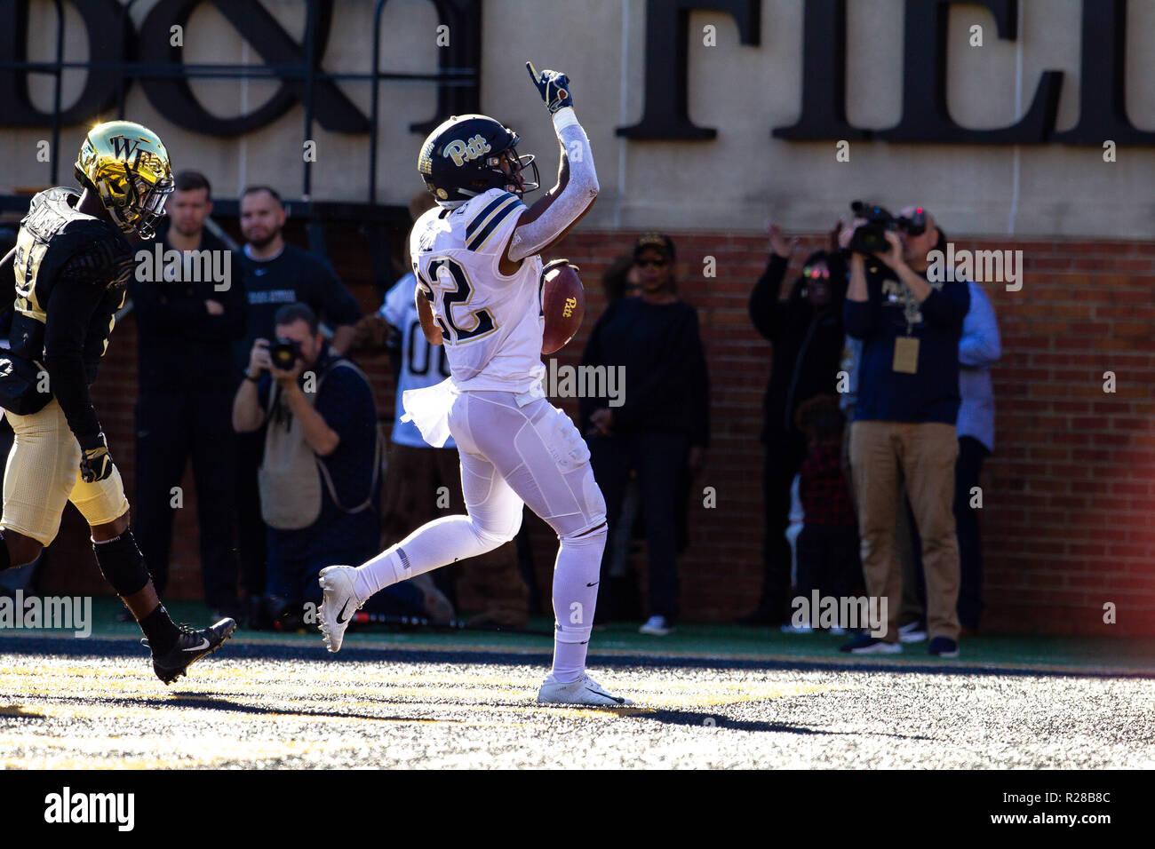 Winston Salem Nc Usa 17th Nov 2018 Pittsburgh Panthers Running