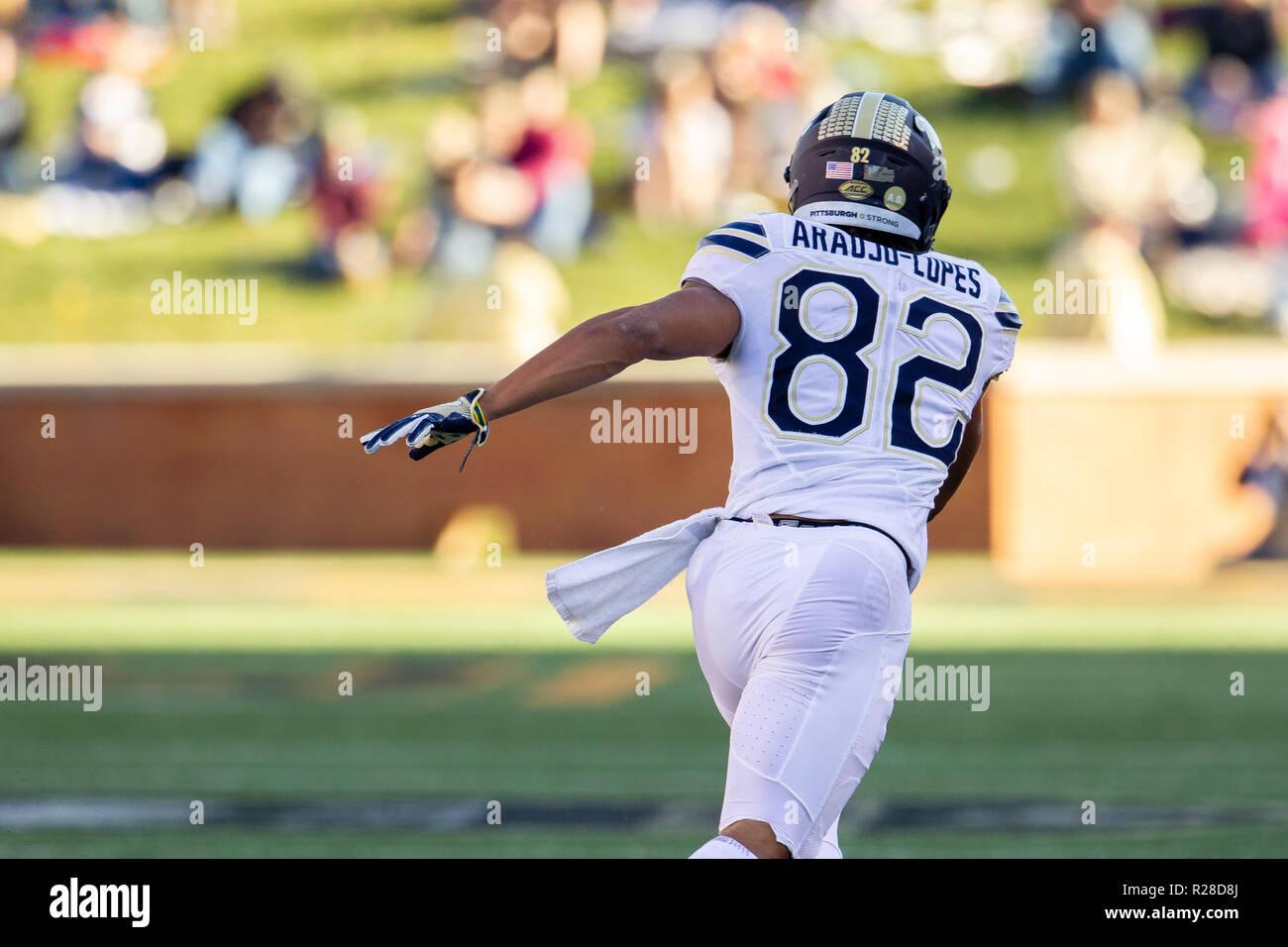 Winston Salem Nc Usa 17th Nov 2018 Pittsburgh Panthers Wide