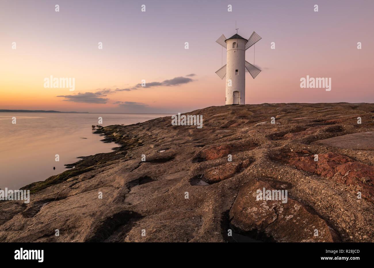 Swinemünde lighthouse Stock Photo