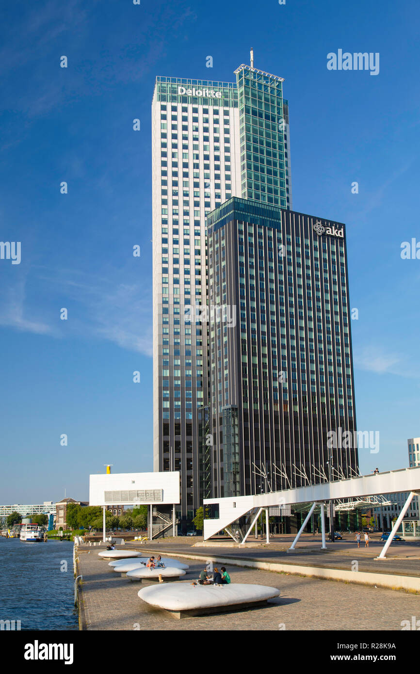 Maastoren building, Rotterdam, Zuid Holland, Netherlands Stock Photo