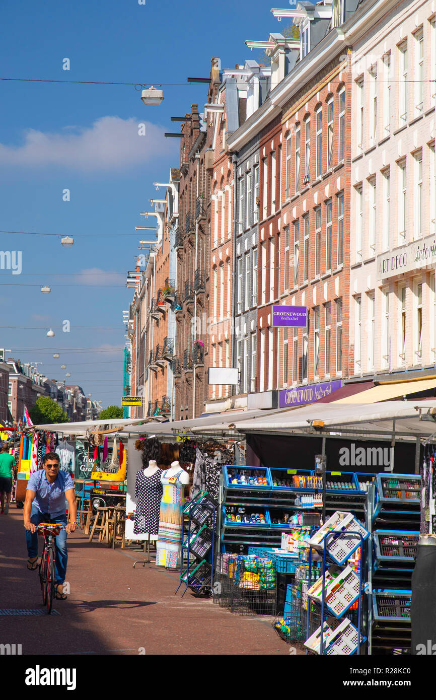 De Pijp Market, Amsterdam, Noord Holland, Netherlands - Stock Image