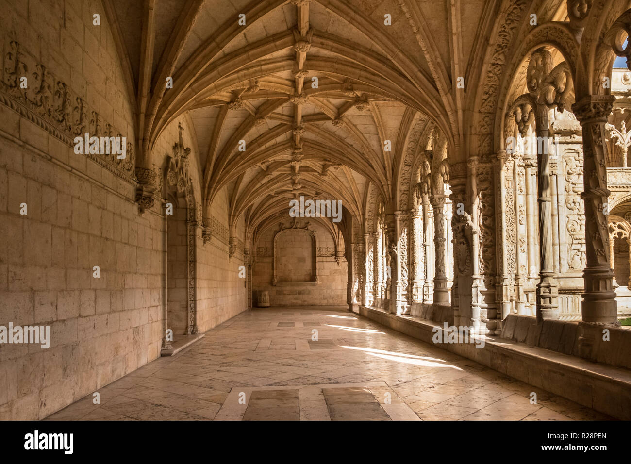 Portuguese UNESCO world heritage site, Monastery of the Hieronymites also known as the Jeronimos Monastery - Stock Image