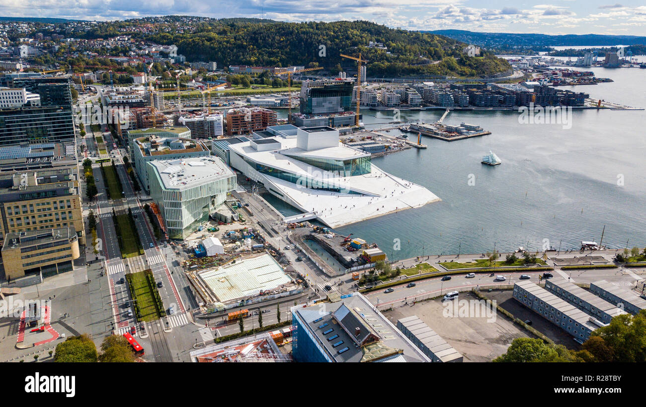 Oslo Opera House Operahuset Oslo, Oslo, Norway - Stock Image