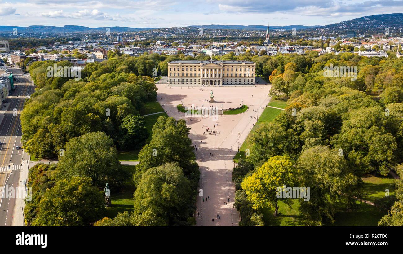 The Royal Palace Det Kongelige Slott, Oslo, Norway Stock Photo