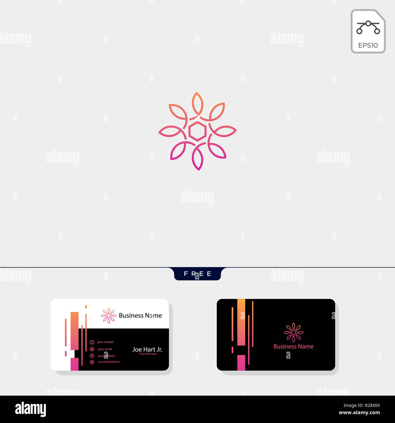 Line Art Flower Fashion Creative Logo Template Vector Illustration Free Business Card Design Template Stock Photo Alamy