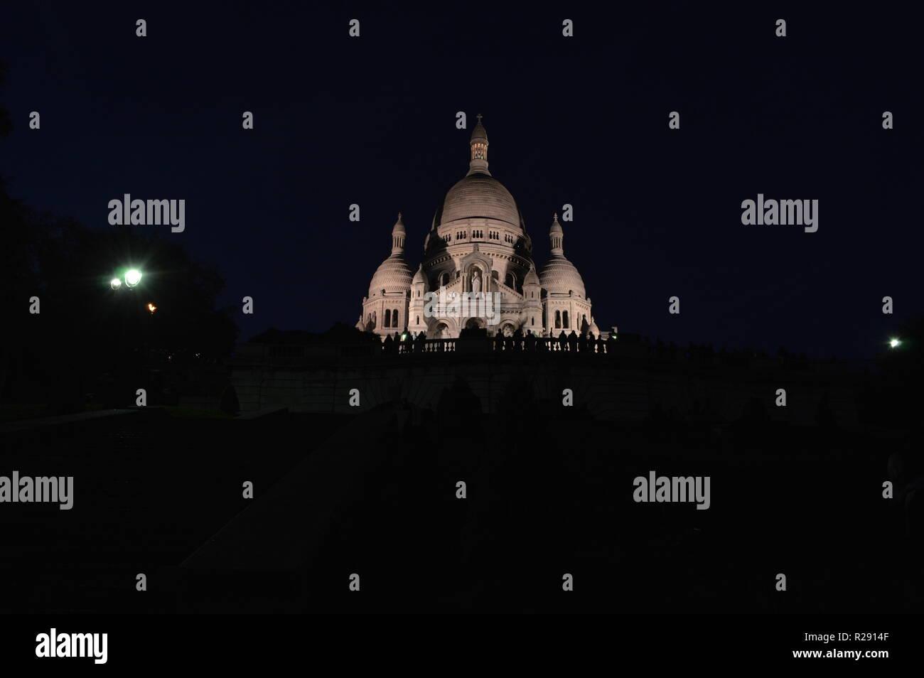 Night shoot of Sacro Coeur - Stock Image