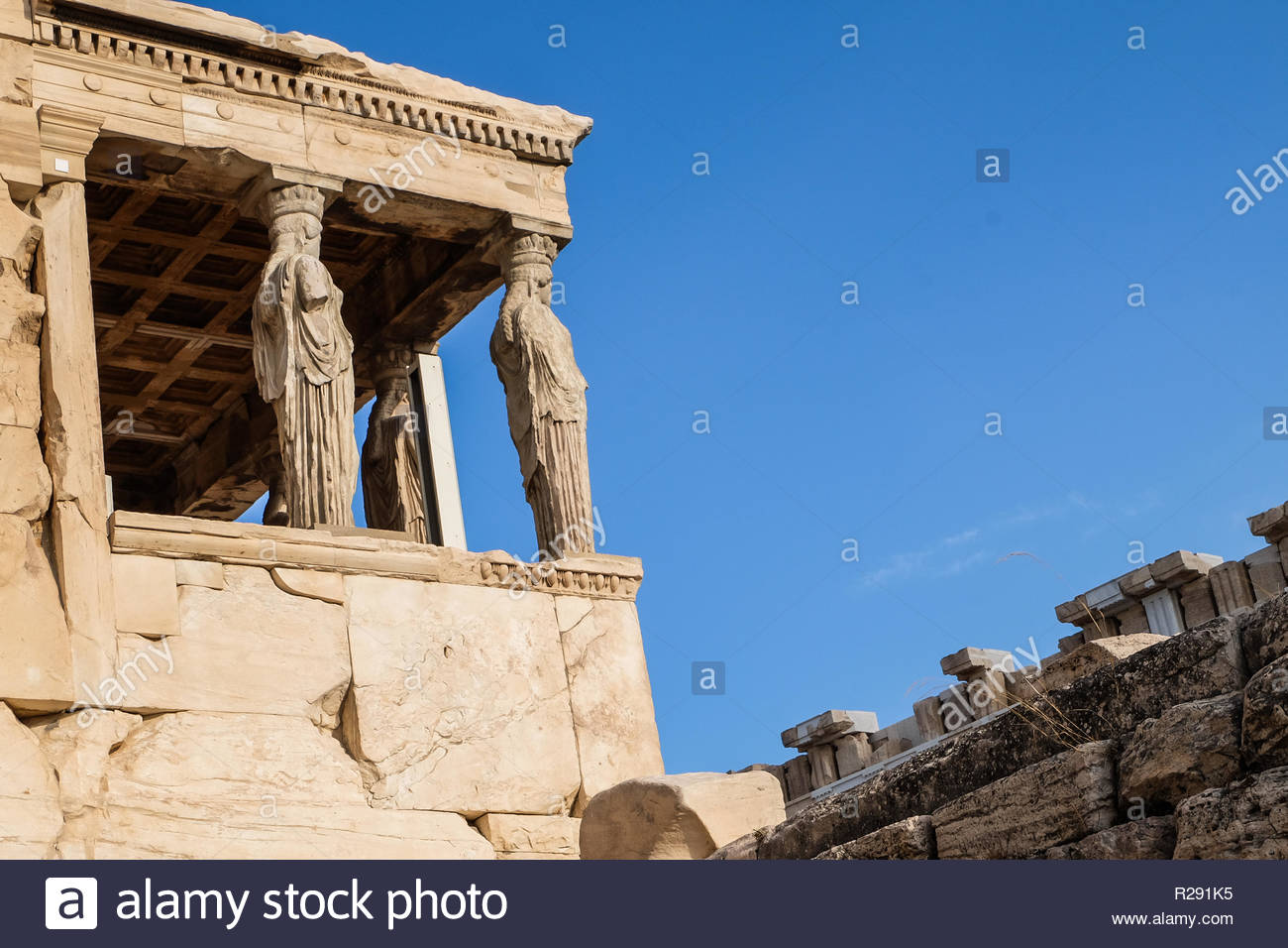 Acropolis of Athens on September 2016 - Stock Image