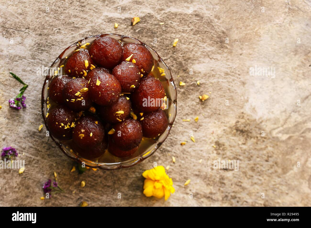 Homemade Gulab Jamuns / Diwali Sweets, selective focus Stock Photo